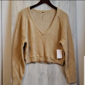 Free People V-neck Sweater!